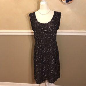 NWOT Ann Taylor LOFT pleated dress w/pockets